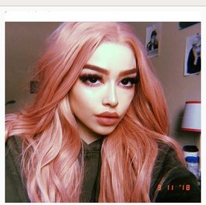Pink Layered Beauty Lace Front Wig